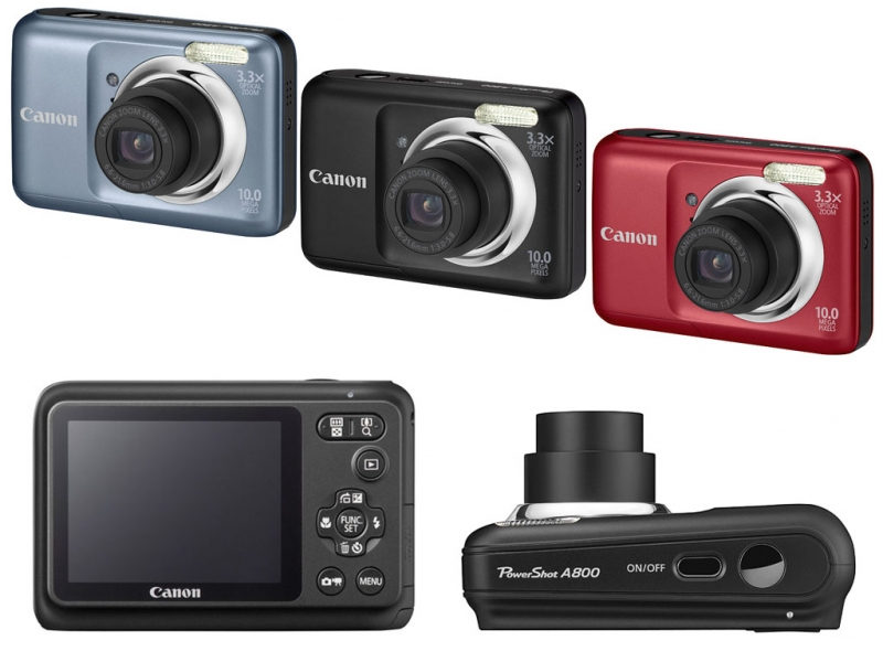 Canon Powershot A800 được thiết kế khá bầu bĩnh với báng cầm cong rất vừa tay
