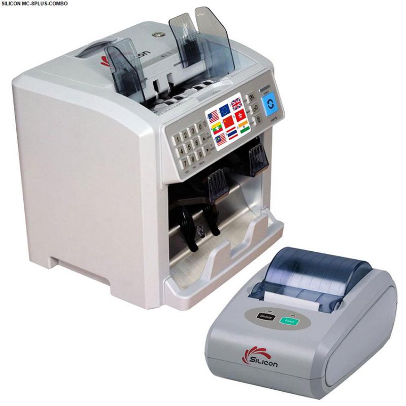 Máy đếm tiền Silicon MC-8PLUS (Combo)