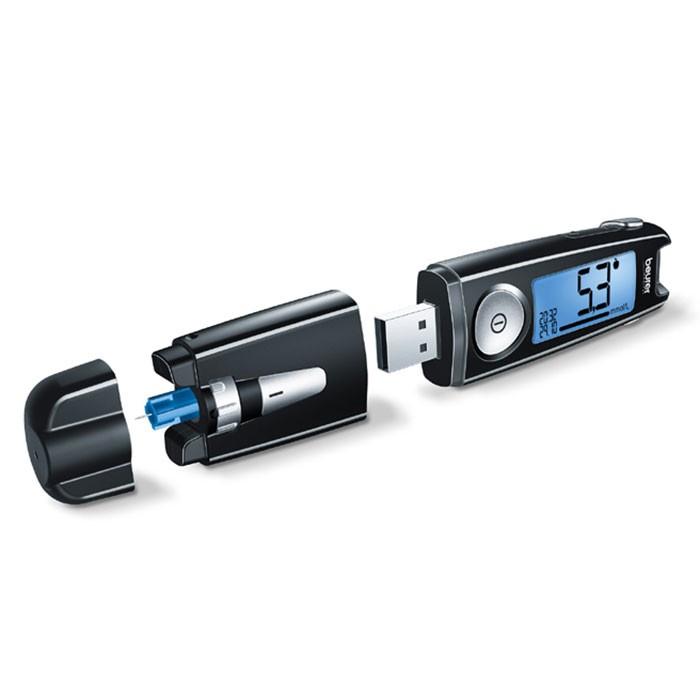 Kiểu dáng máy đo đường huyết vô cùng nhỏ gọn 36g cả pin. Do đó người dùng dễ dàng mang theo đến bất kỳ nơi đâu.