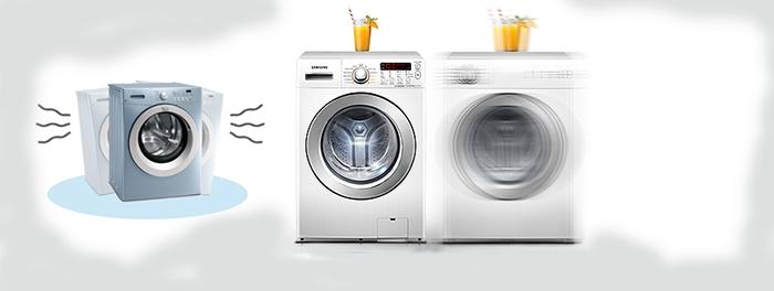Máy giặt có hiện tượng rung mạnh