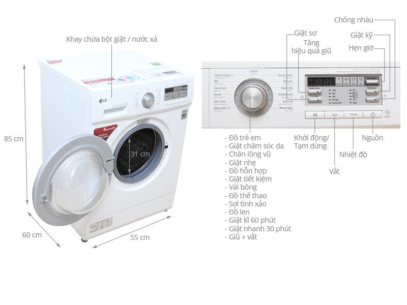 Máy giặt LG F1407NMPW