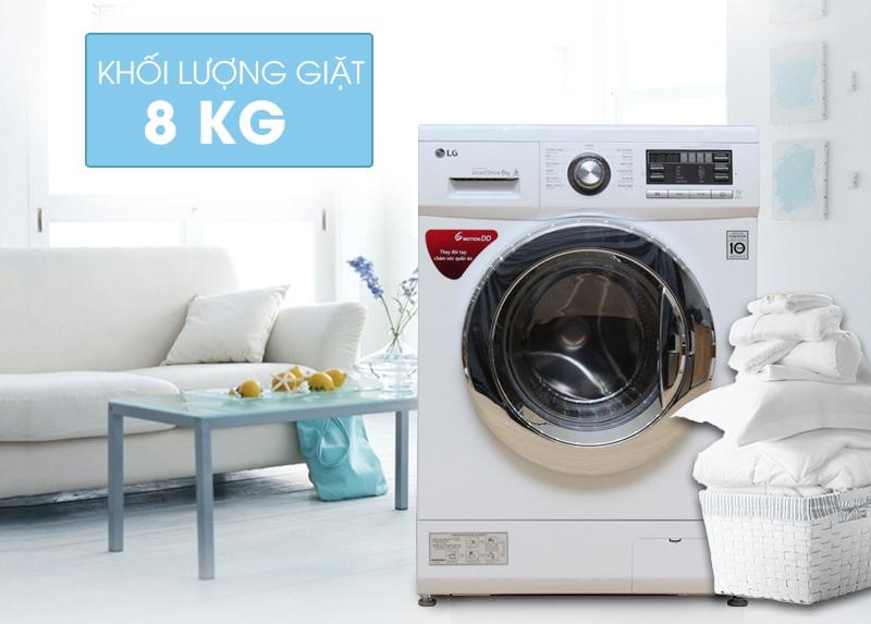 LG FC1475N5W2 có khối lượng giặt 8kg cùng những tính năng vượt trội
