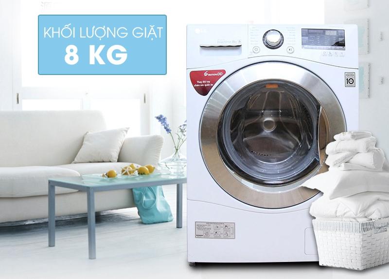 LG WD-14660 là chiếc máy giặt cửa ngang có khối lượng giặt 8kg tốt nhất hiện nay