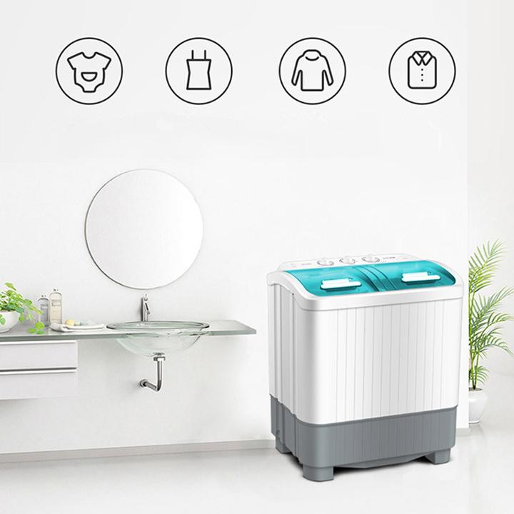Máy giăt mini bán tự động 2 lồng giặt AUX