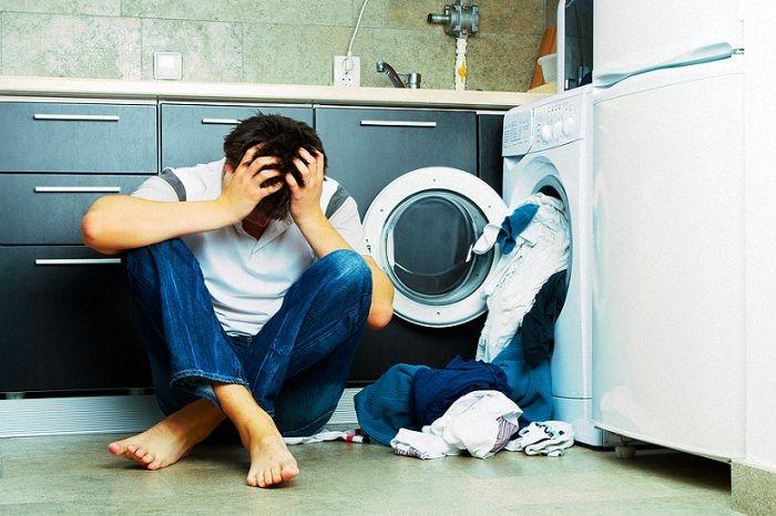 Máy giặt ở chế độ vắt nhưng không vắt