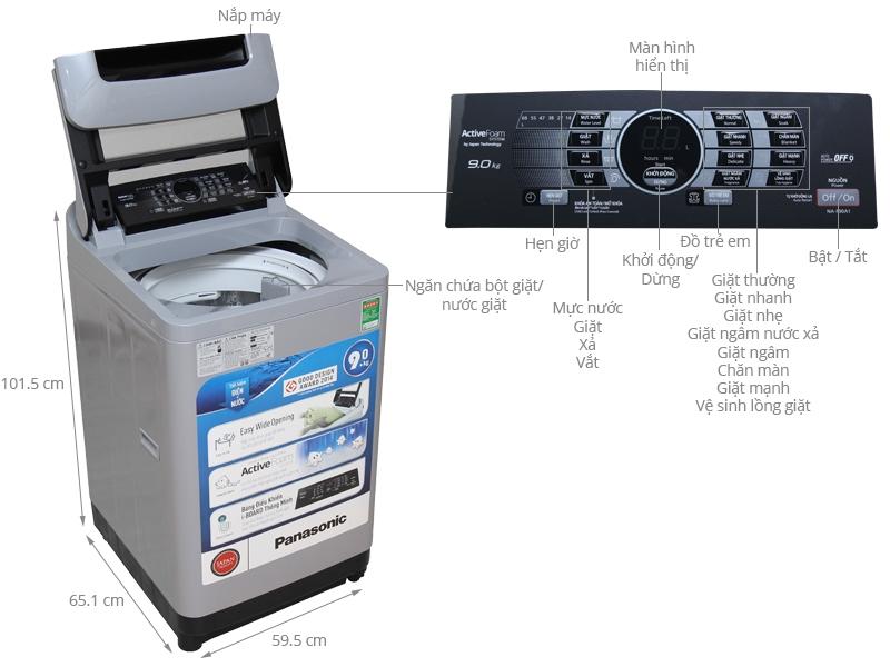 Máy giặt Panasonic NA-F70VB6HDK