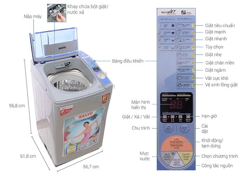 Máy giặt Sanyo 7kg ASW-U700Z1T