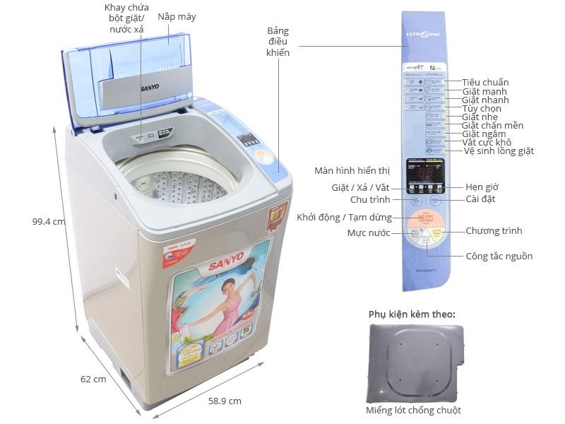 Máy giặt Sanyo ASW-U800Z1T
