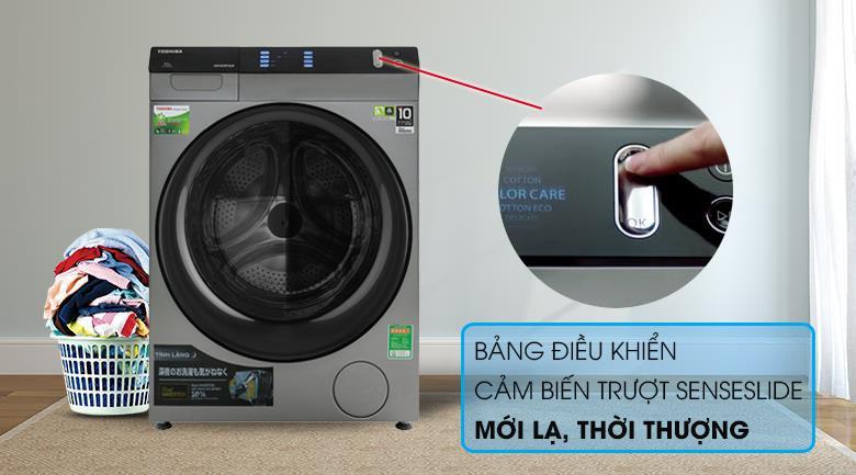 Máy giặt sấy 8 Kg Toshiba TWD-BH90W4V(SK) lồng ngang Inverter