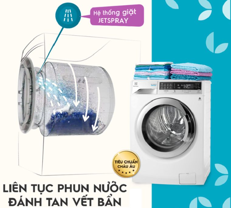 Máy giặt sấy Electrolux 7kg/5kg EWW1273