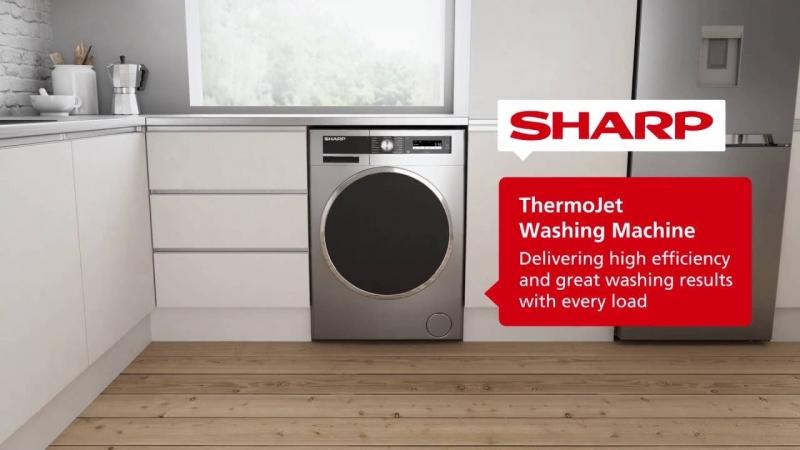 Những chiếc máy giặt đến từ thương hiệu Sharp khá nổi bật về thiết kế