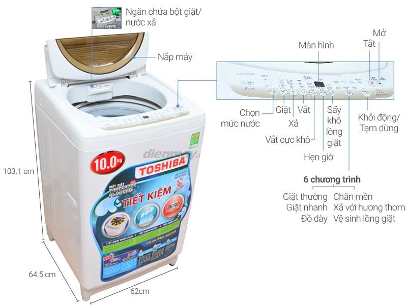 Máy giặt Toshiba AW-B1100GV (WD)
