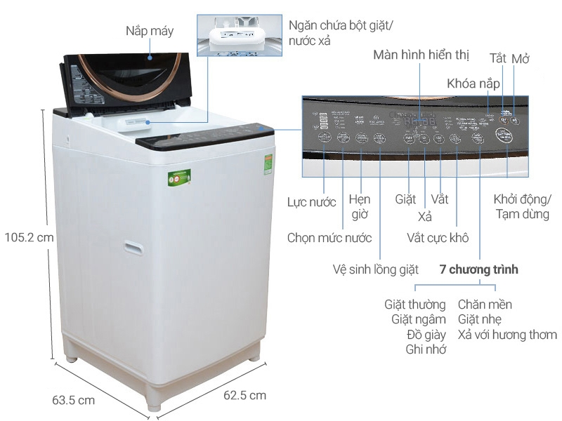 Máy giặt Toshiba 11 kg AW-DME1200GV (WK).