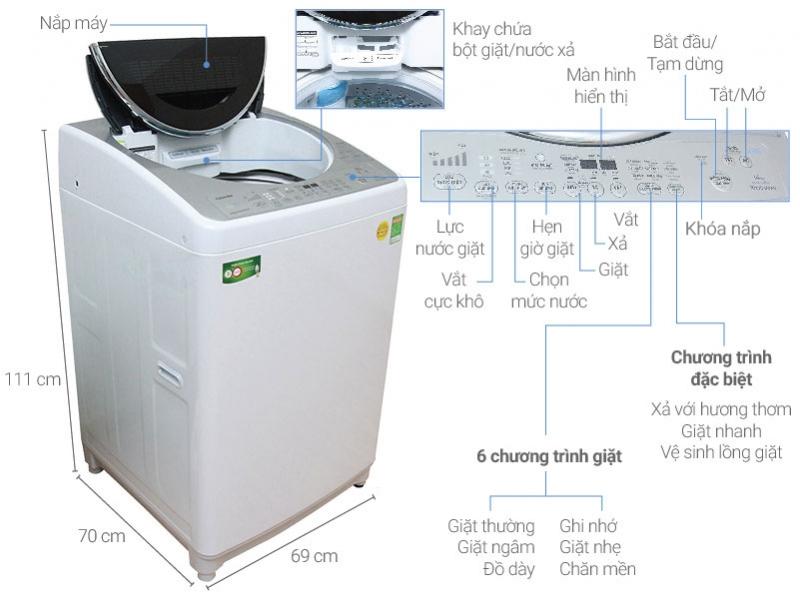 Máy giặt Toshiba 14kg AW-DC1500WV.
