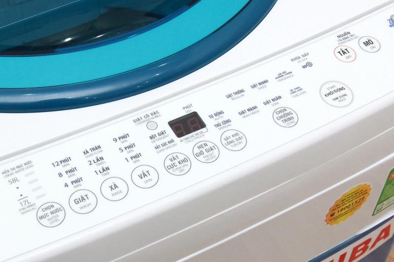 Số lượng nhiều các chương trình giặt