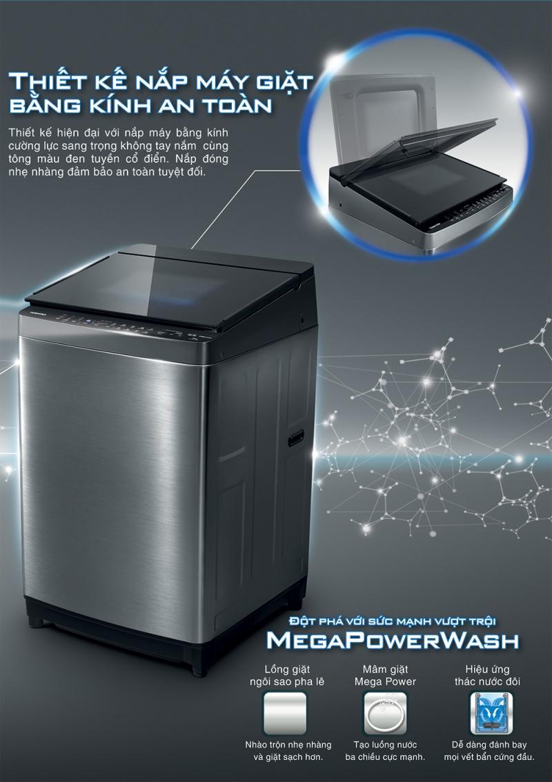 Máy giặt Toshiba Inverter 14 kg AW-DG1500WV (KK).