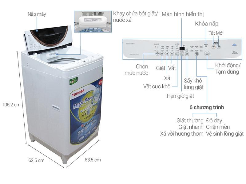 Máy giặt Toshiba ME1150GV(WK)