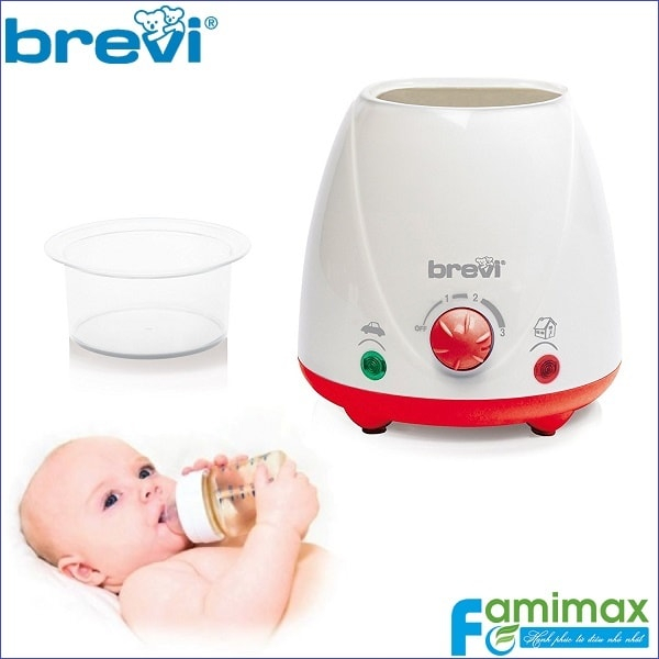 Máy hâm nóng sữa và thức ăn Brevi 372 giúp tiệt trùng hiệu quả và an toàn