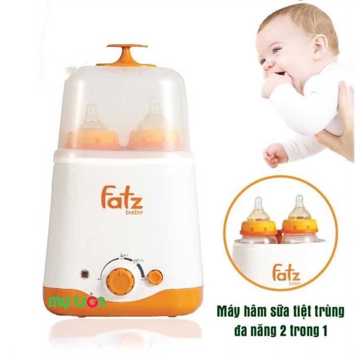 Máy hâm sữa Fatzbaby 2 bình đa năng FB3012SL có chức năng hâm nóng và tiệt trùng hiệu quả