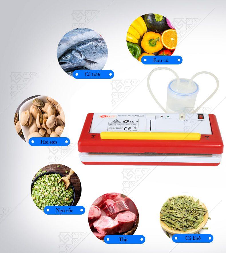 Máy hút chân không Elip Platin bảo quản được rất nhiều loại thực phẩm