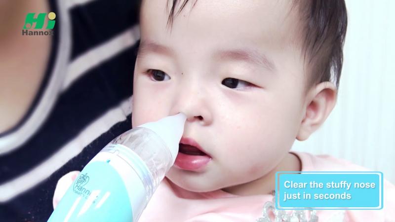 Máy hút dịch mũi cho bé Hannox ME8202X được nhiều mẹ bỉm tin dùng cho bé yêu