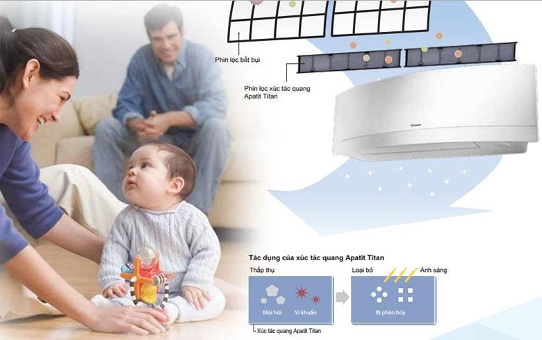 Hệ thống xúc tác quang  đem lại bầu không khí trong lành an toàn cho sức khoẻ