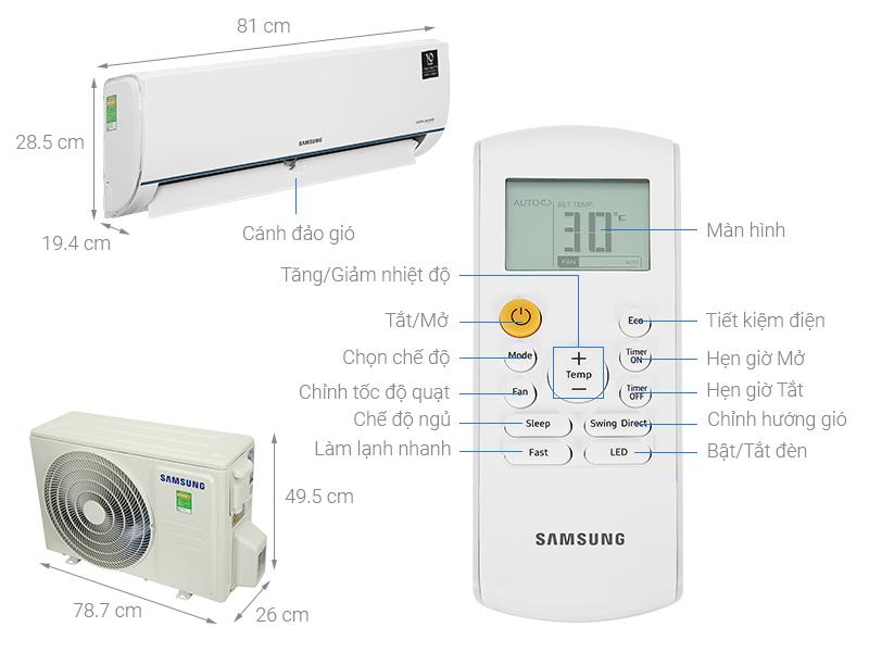 Máy lạnh Samsung Inverter 1 HP AR09TYHQASINSV