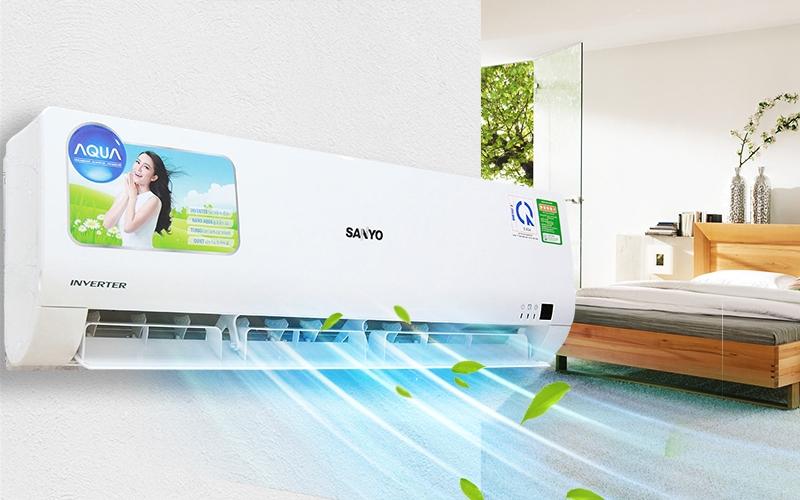Chế độ nghĩ ngơi nhân bản là một thiết kế độc đáo của dòng sản phẩm Sanyo 1 Hp SAP-KCRV9YGS