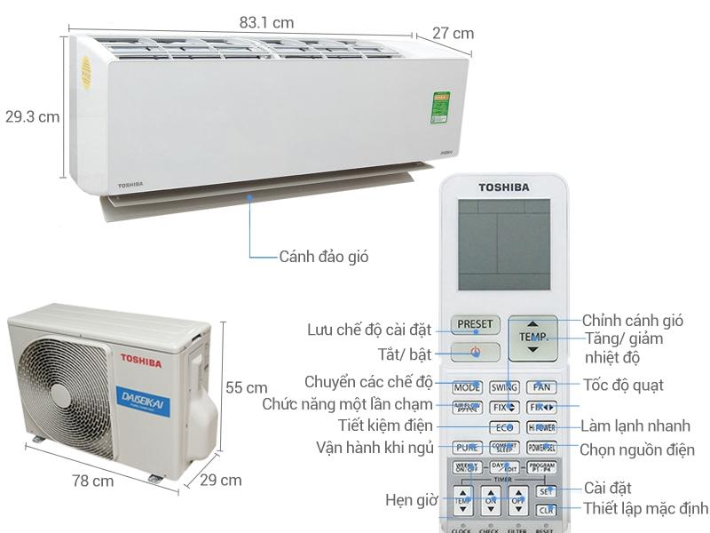 Điều hòa Toshiba 1 HP RAS-H10G2KCVP-V