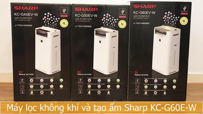 Máy lọc không khí và tạo ẩm Sharp KC-G60EV-W