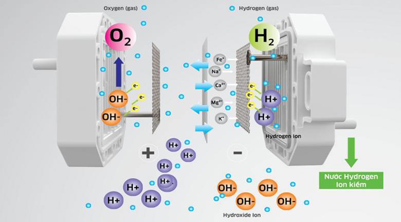 Máy lọc nước RO hydrogen ion kiềm Kangaroo KG100EO 7 lõi