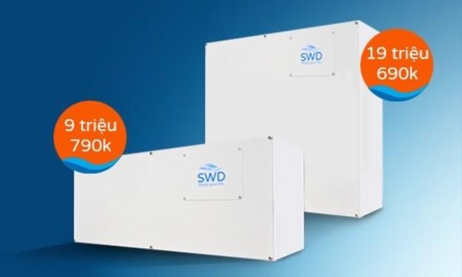 Máy lọc nước tổng sinh hoạt căn hộ chung cư SWD BA1C 5.0 và  2 đường nóng lạnh SWD BA2C 5.0