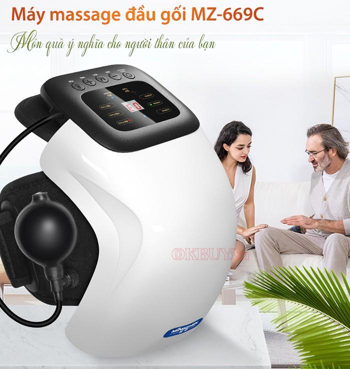 Máy massage đầu gối áp suất khí và tạo nóng Mingzhen MZ-669C