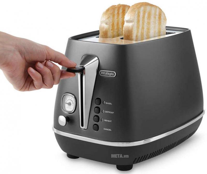 Máy nướng bánh mì Delonghi Distinta CTI 2103.BK