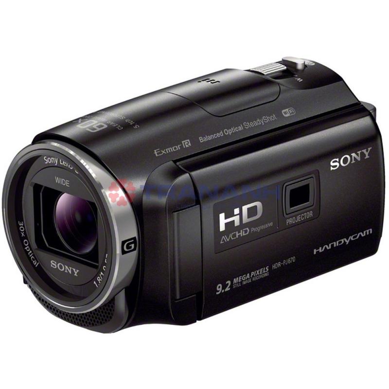 Máy quay Sony HDRPJ670E được tích hợp máy chiếu
