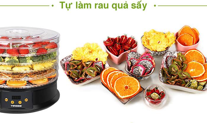 máy sấy hoa quả đa năng Tiross TS9682 tự làm hoa quả sấy dễ dàng