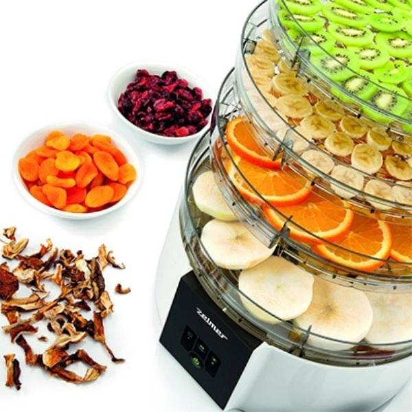 MÁY SẤY THỰC PHẨM ZELMER FD1001 với 4 khay sấy riêng biệt giúp sấy được nhiều thực phẩm