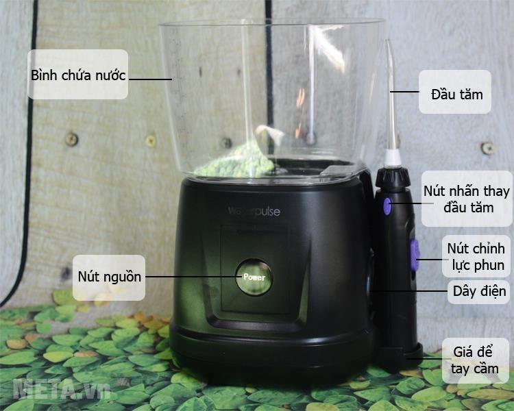 Cấu tạo Máy tăm nước điều khiển cảm biến Waterpulse V700 Black