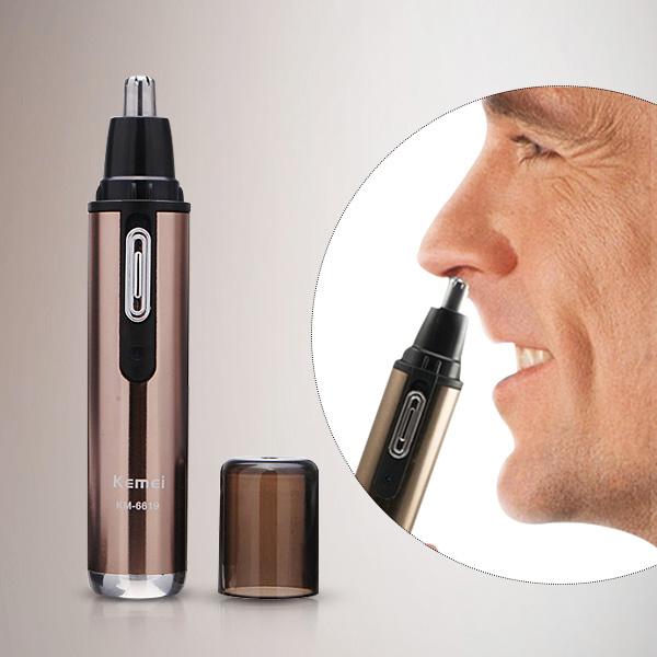 Máy tỉa lông mũi Kemei KM-6619 hoạt động theo cơ chế rung nhẹ, sẽ tạo cảm giác dễ chịu cho mũi của bạn