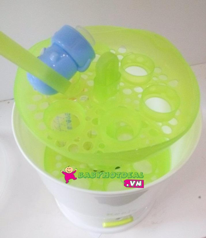 Máy tiệt trùng bình sữa siêu tốc Kenjo KJ-01X có khả năng tiệt trùng mạnh mẽ