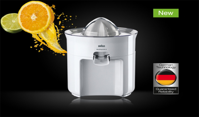 Máy vắt cam  Braun CJ3050 có kiểu dáng nhỏ gọn, tiện dụng cùng màu trắng tinh tế, đẹp mắt mang đến vẻ đẹp hiện đại cho không gian nhà bếp.