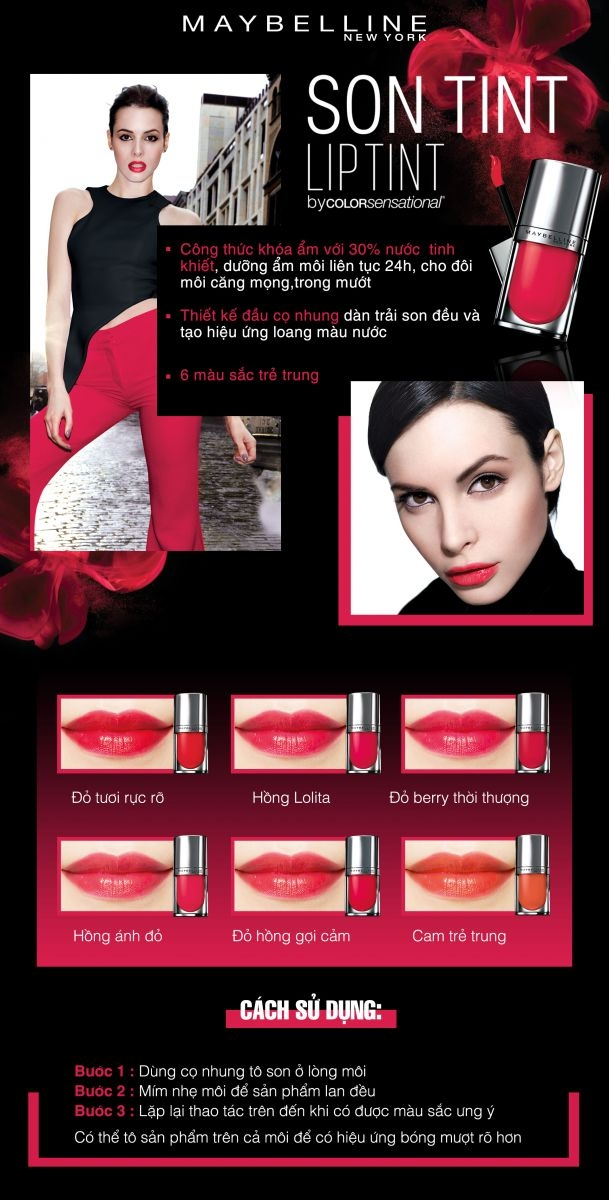 Maybelline Lip Tint Colors.