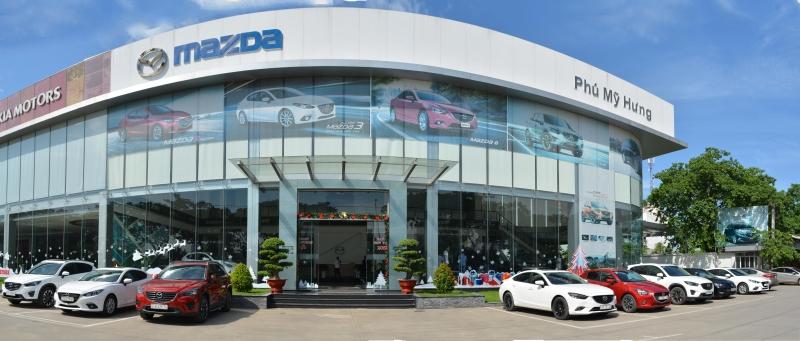 Hình ảnh showroom Mazda Phú Mỹ Hưng.
