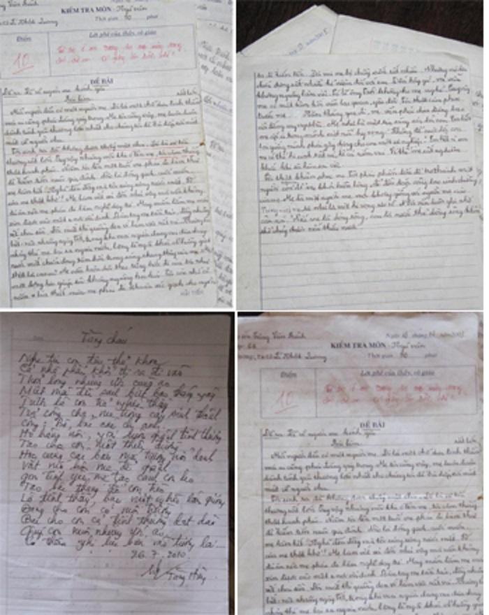 Bài viết kể về người mẹ kính yêu của Tăng Văn Bình đạt điểm tối đa