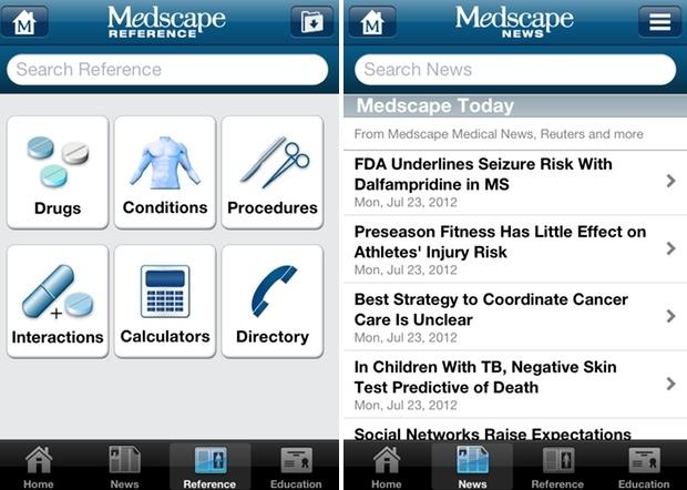 Medscape với các chủ đề hỗ trợ người dùng.