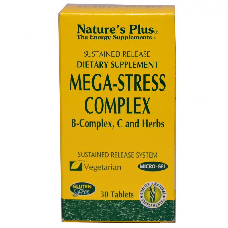 Viên uống giảm căng thẳng Mega-Stress Complex Nature's Plus