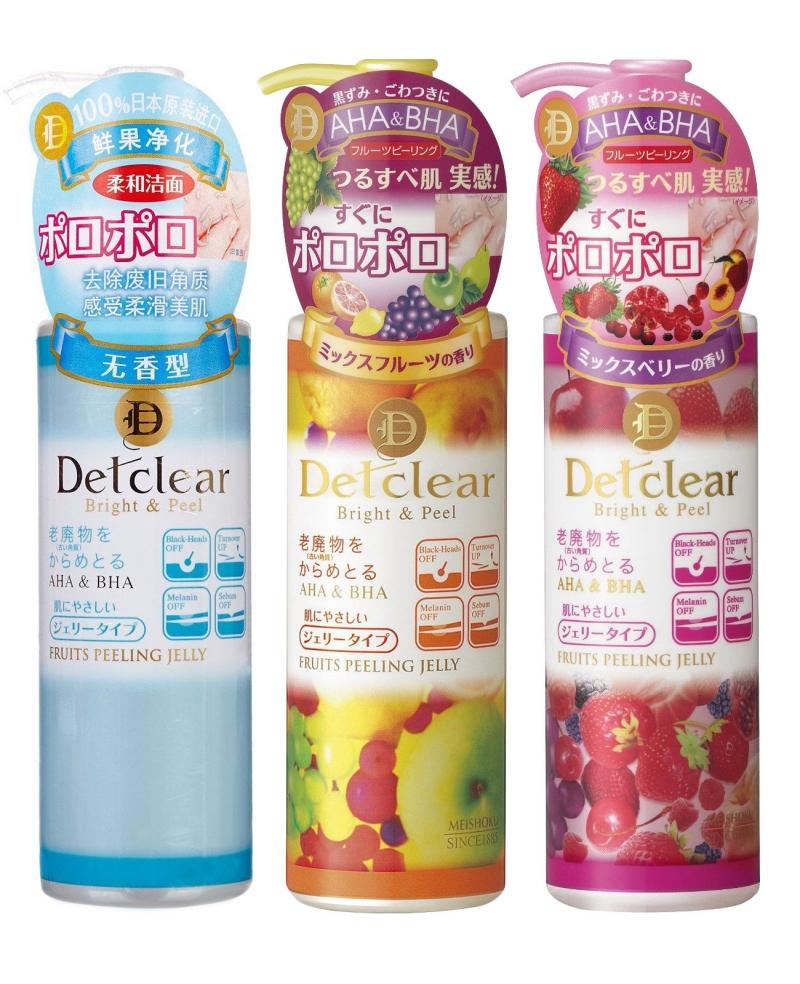 3 dòng của tẩy da chết Meishoku Detclear Peeling Jelly