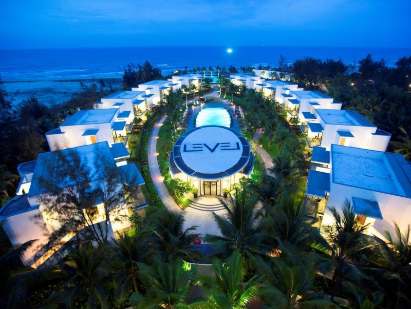 Sự lộng lẫy của Melia Danang Resort khi đêm xuống