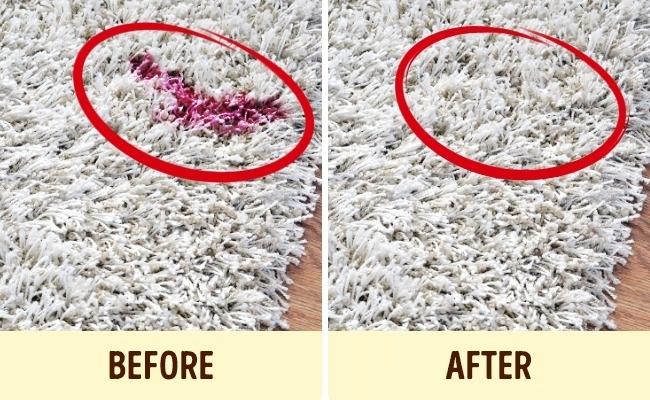 Sơn móng tay yêu thích của các cô gái rớt ra thảm cũng không phải là vấn đề khó khăn (Ảnh: Internet)