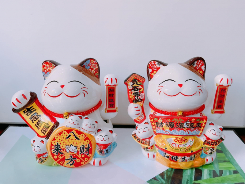 Mèo Thần Tài Phong Thủy Vinh